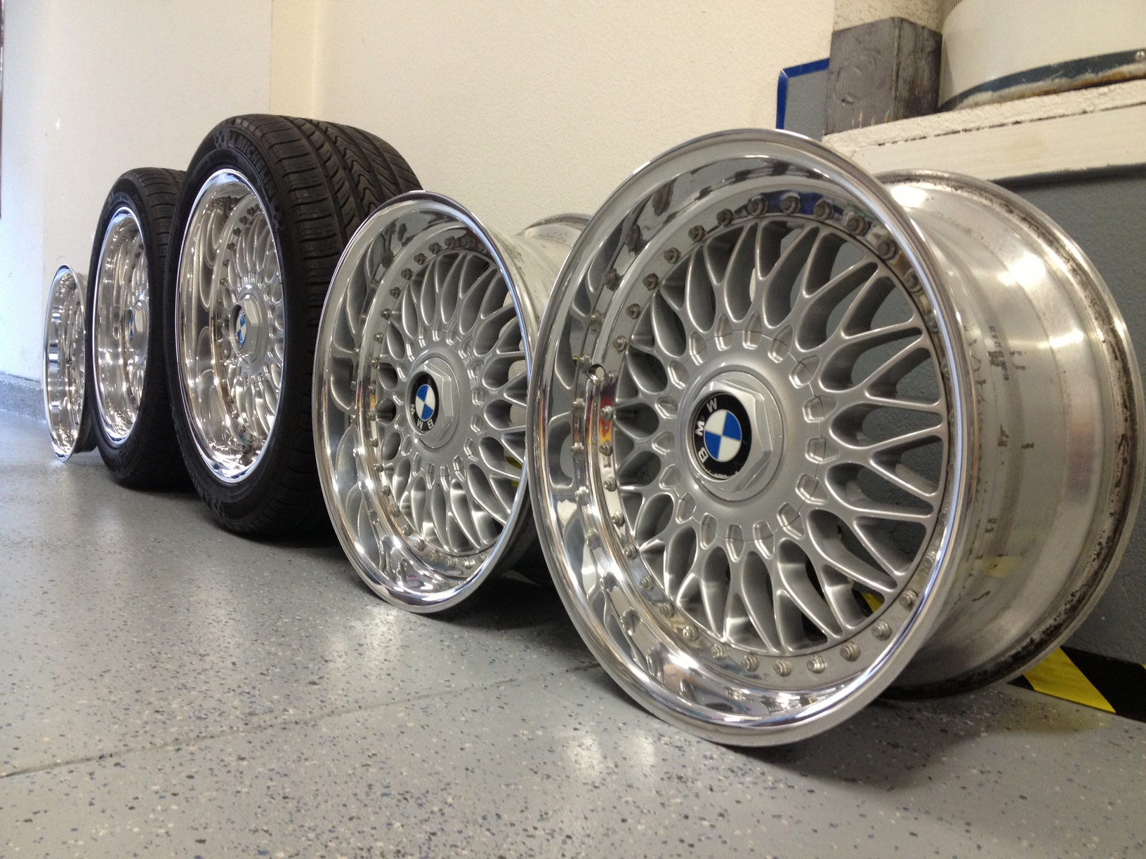 bmw e39 bbs wheels 17x8 rc090 sport