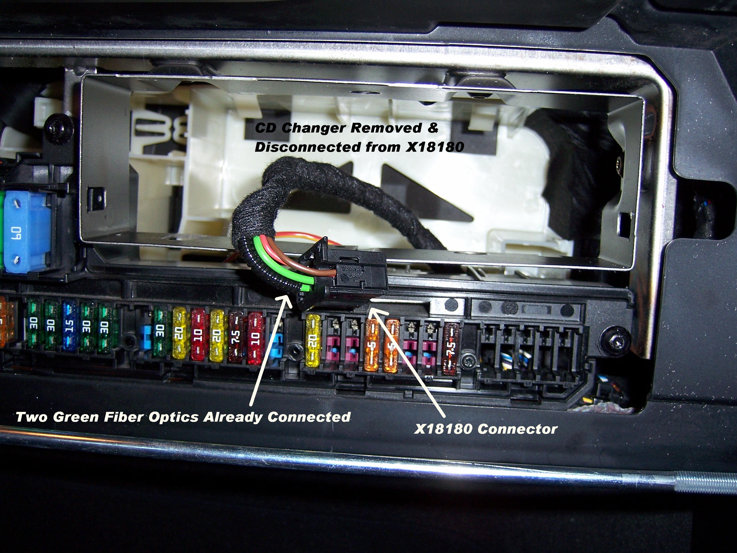 Wiring Diagram For Bmw Cd Changer : Diy ipod most adapter install in m bmw forum