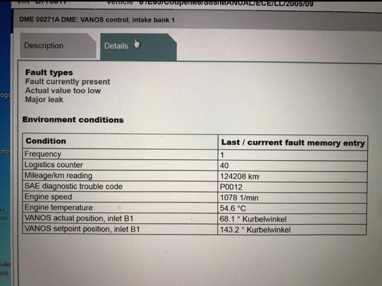 Need help! big vanos problem! - BMW M5 Forum and M6 Forums