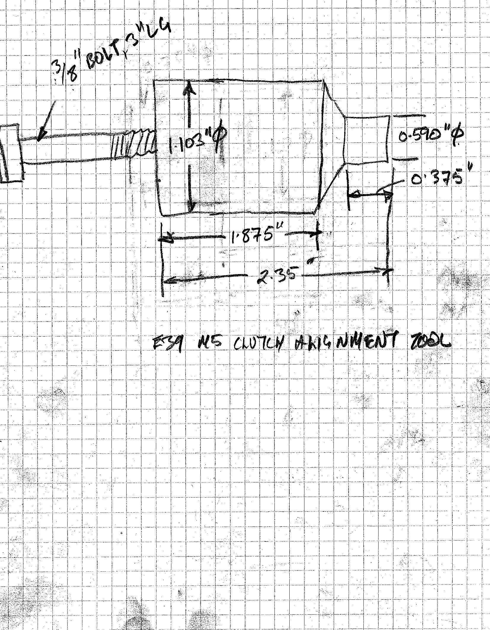 e36 clutch alignment tool