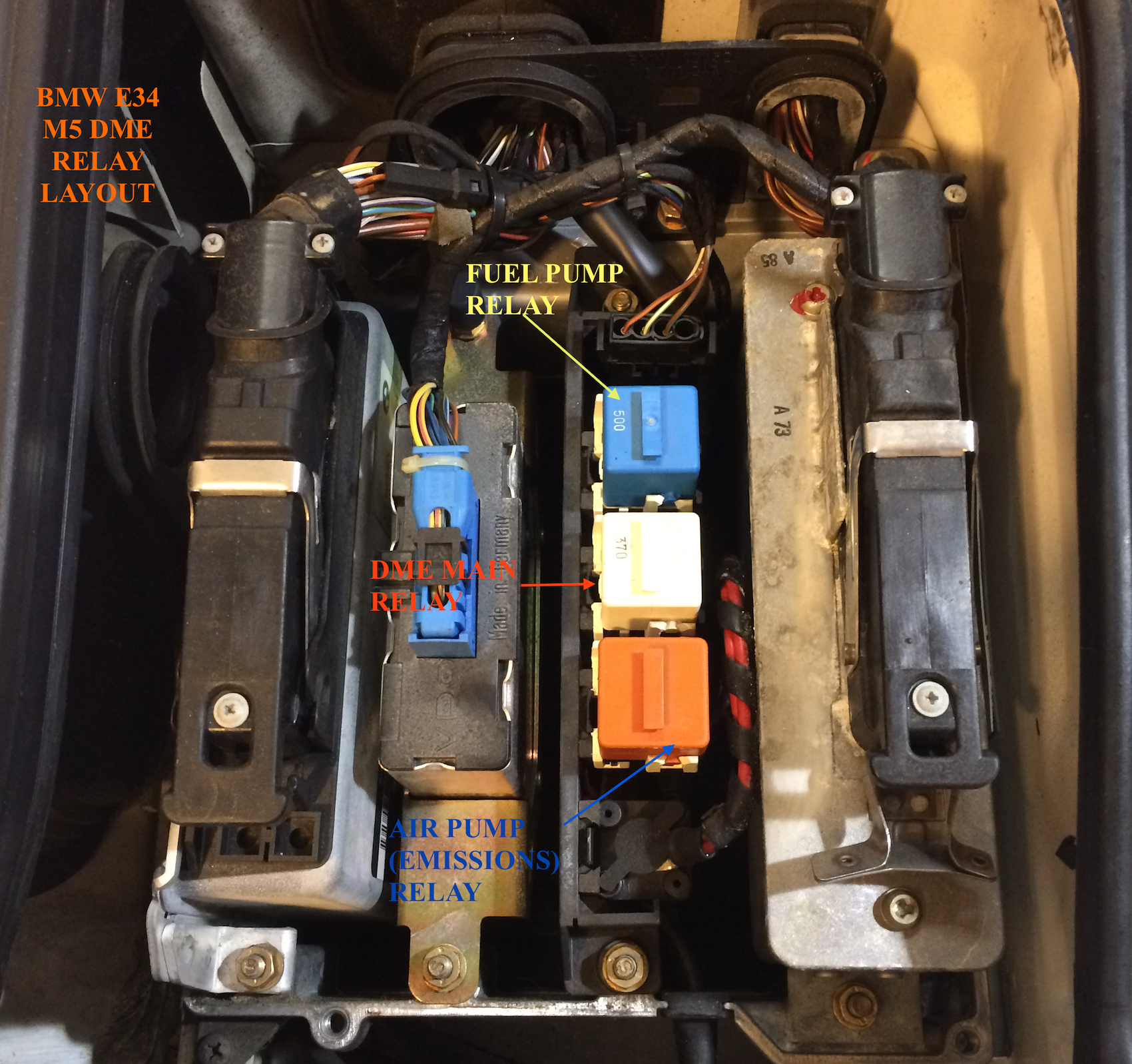 Fuel Pump Relay Question - White or Green - BMW M5 Forum and M6 Forums