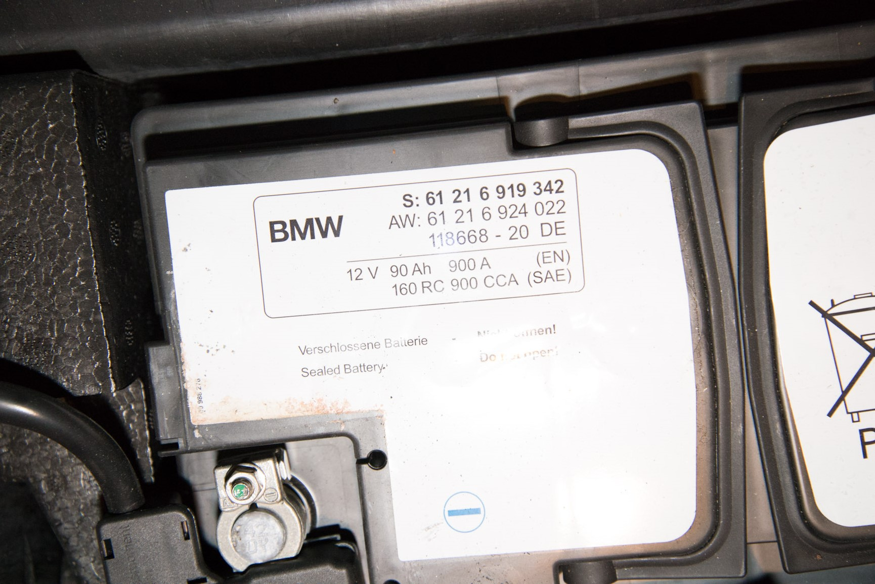 diy 2008 e60 m5 battery replacement bmw m5 forum and m6. Black Bedroom Furniture Sets. Home Design Ideas