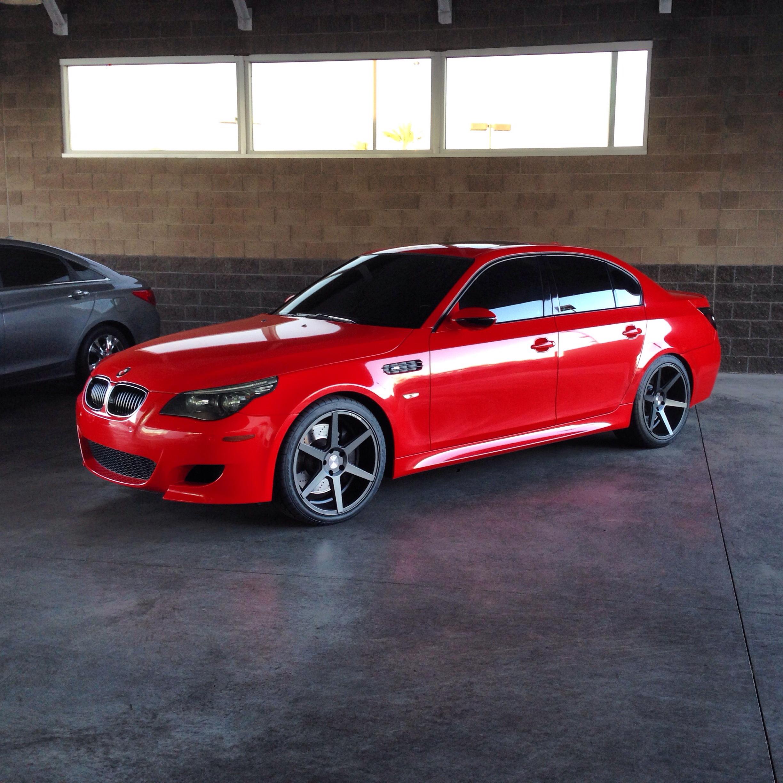 M5 E60: Never Before Done -- Project E60 M5 Imola Red Wrap