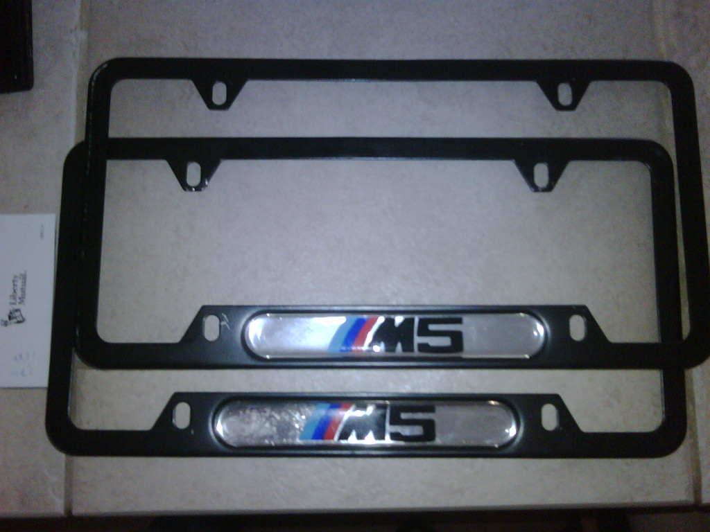 E39 (96-03) For Sale M5 license plate frames (any year) - Genuine ...