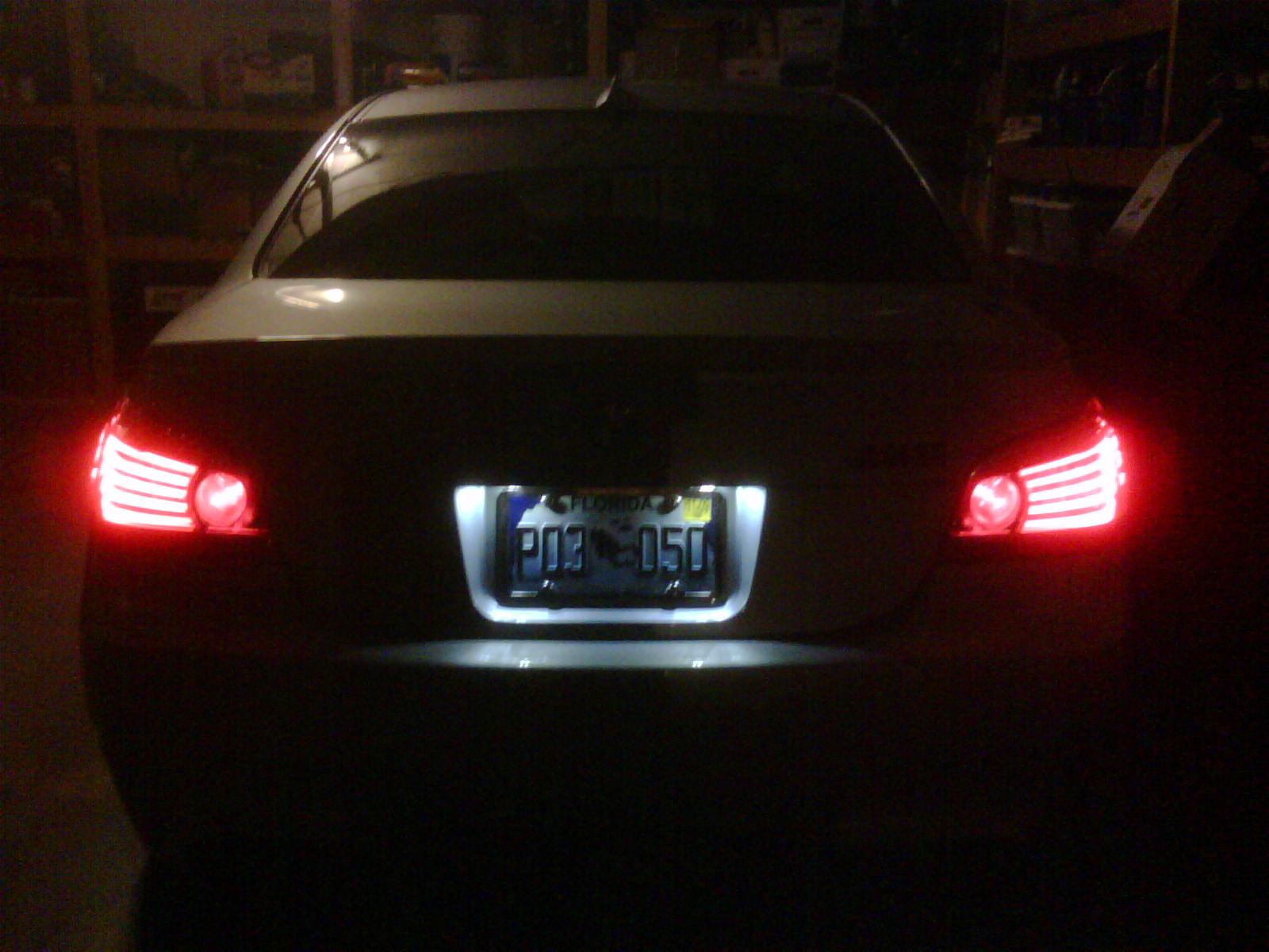 Oem Led License Plate Lights Pics Bmw M5 Forum And M6