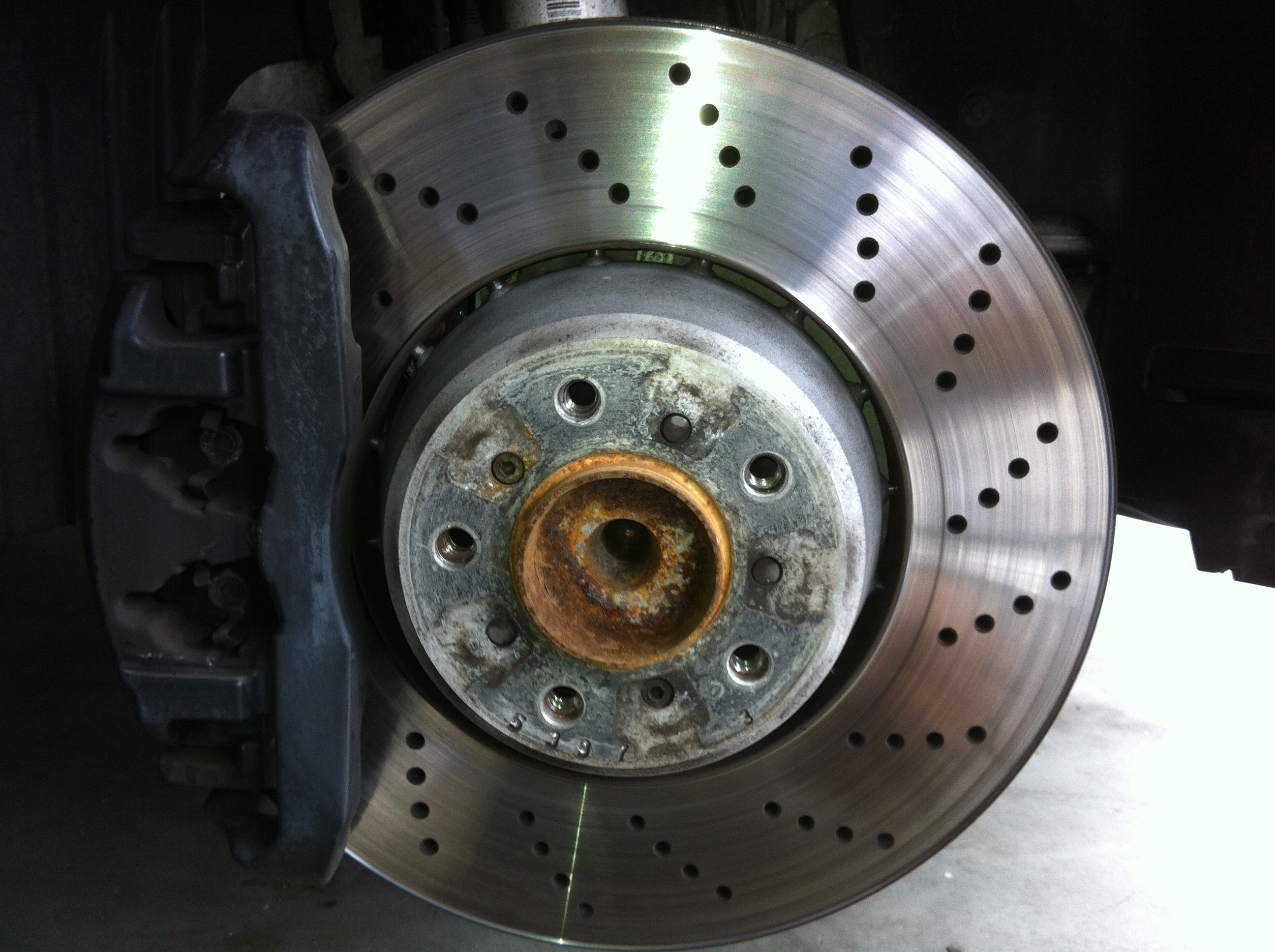 Diy Front Brake Rotor Pad And Sensor Replacement Bmw M5 Forum When To Change Pads Img 0592