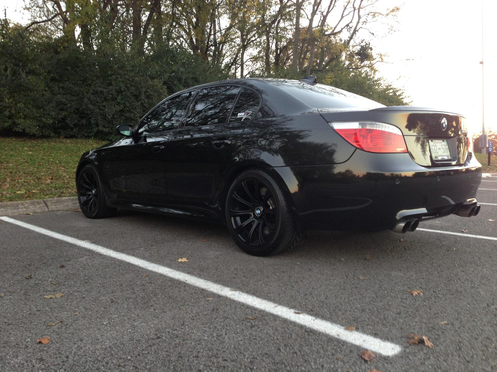 Oem Bmw Wheels >> My OEM Wheels Get Painted Gloss Black! - BMW M5 Forum and M6 Forums