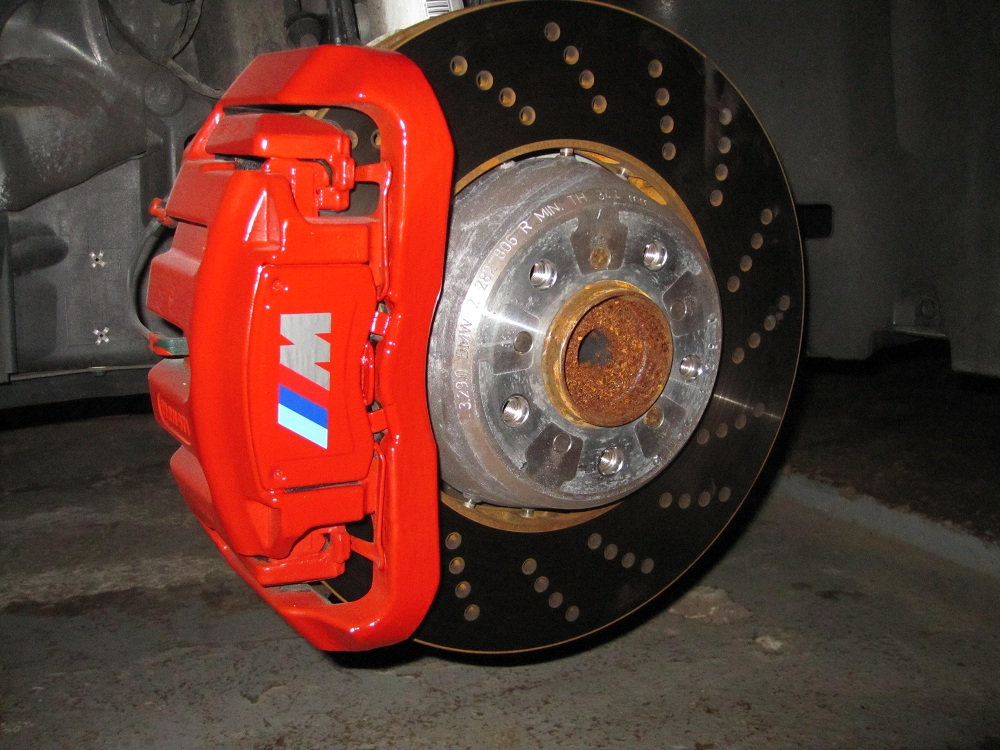 Red Brake Calipers With M Decal BMW M Forum And M Forums - Bmw brake caliper decals