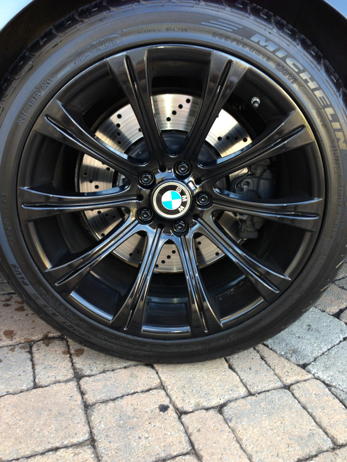 My Oem Wheels Get Painted Gloss Black Bmw M5 Forum And