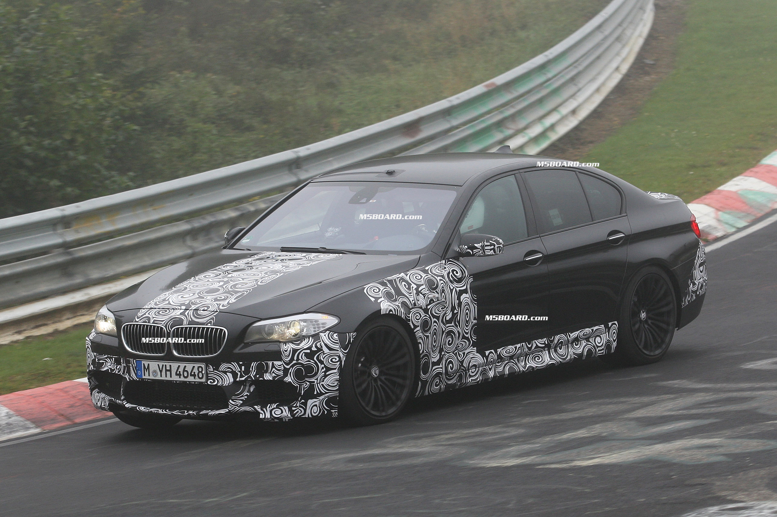 BMW M5 F10 twin turbo on Nurburgring Nordschleife and at BMW M Testcenter Nurburgring September 2010-m57.jpg