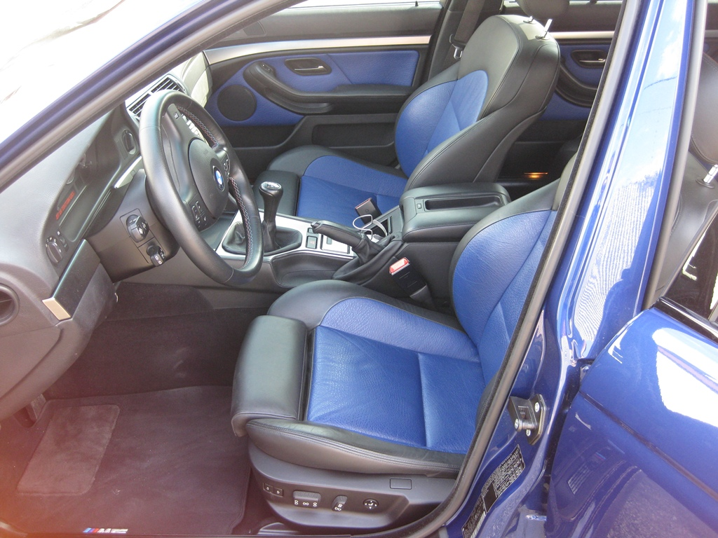147504D1323213108 2003 E39 M5 Lemans Blue Blue Black Interior Pic4