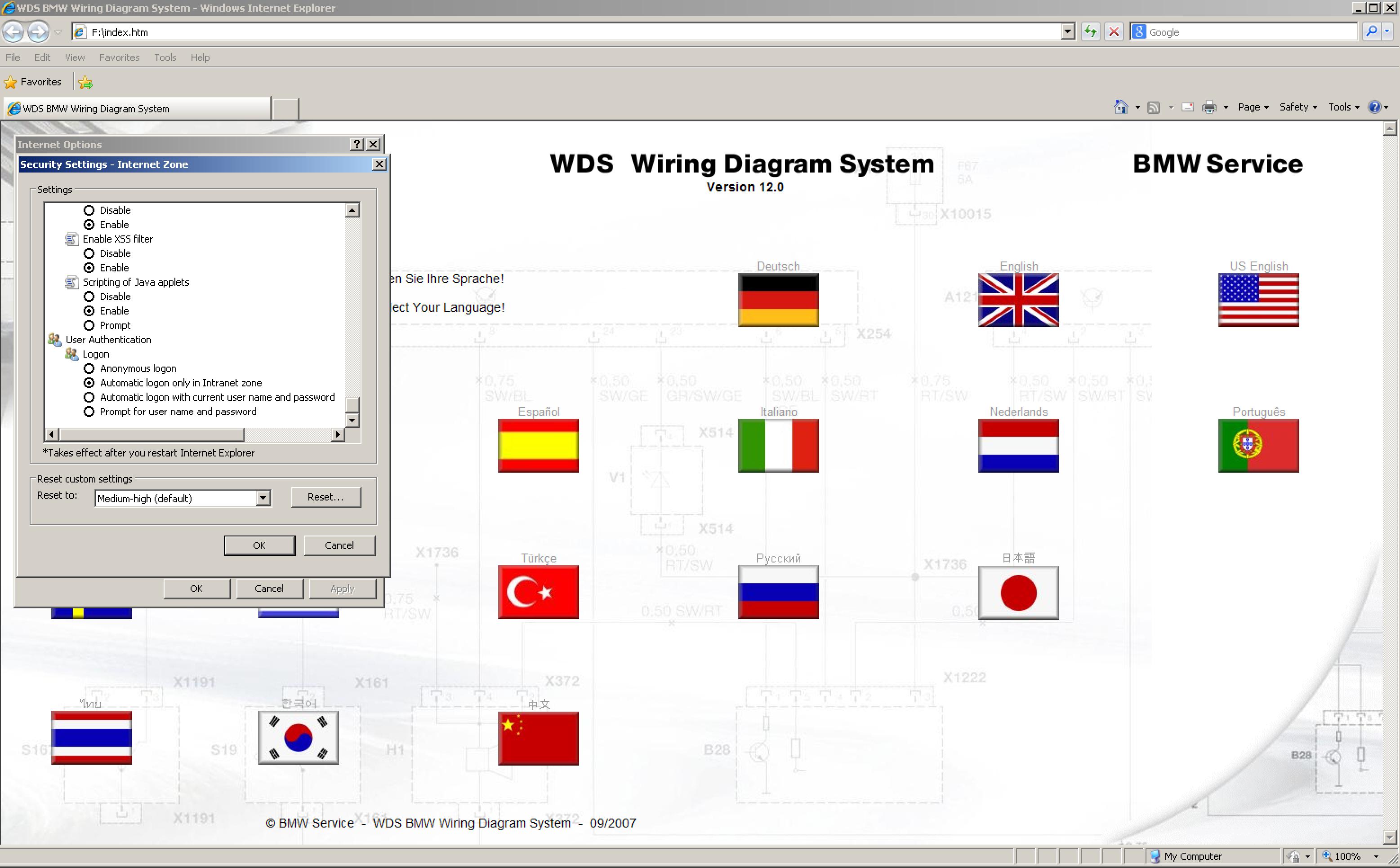 Bmw Wds Java Wiring Diagram