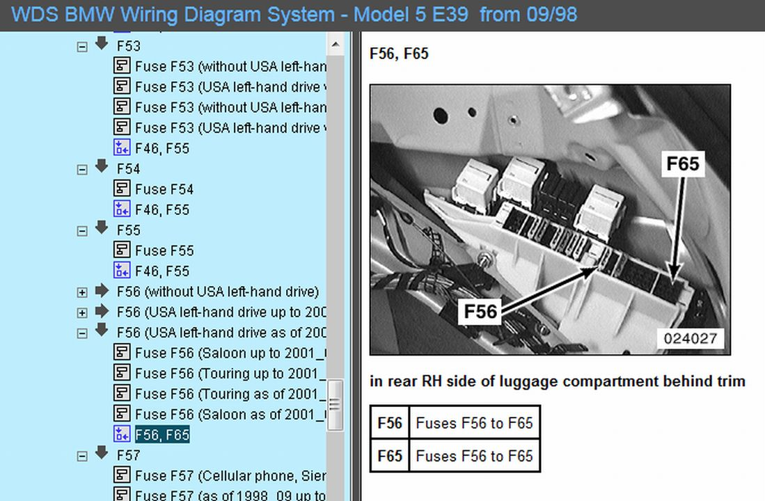 E39 M5 Fuse Box - Wiring Diagrams