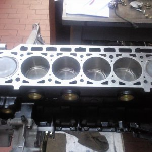 Engine shortblock after rebuild