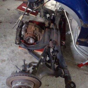 subframe and diff still under car