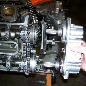 View showing how the VANOS assembly sits when installed
