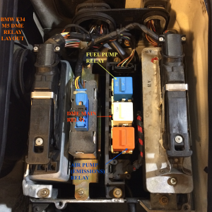 DME Relay Layout BMW E34 M5