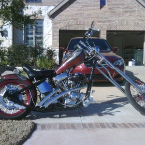 2009 Custom Chopper 113 S&S, Ultima Belt Drive, Sringer Front End, 250mm rear tire