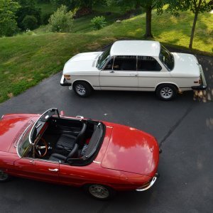My '67 Alfa Duetto and '74 2002
