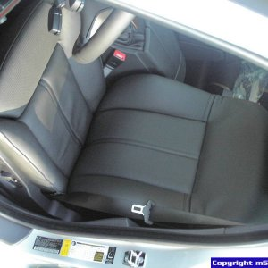 Black Perforated Leather Active Seats