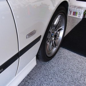 Passenger side front fender on new floor