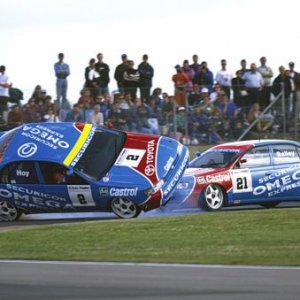 Ok,not a BMW,but a famous accident at Silverstone