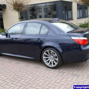 BMW M5 E60 Onlyx Blue with Champagne interiour