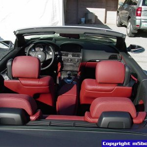 Indianapolis Red interior with dropped top!