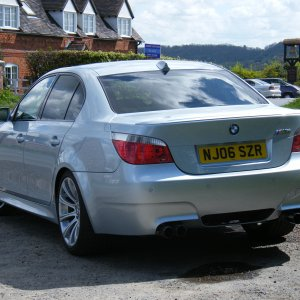 My M5 outside our local pub in the UK