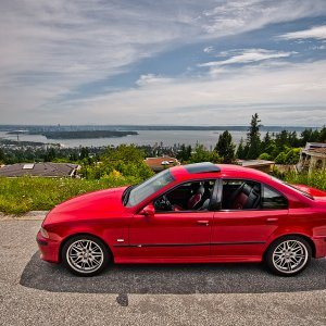 E39 Imola Red M5 West Vancouver