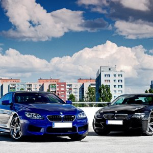 BMW M6 F13 Competition Package San Marino Blue / BMW M6 E63 Azurit Black
