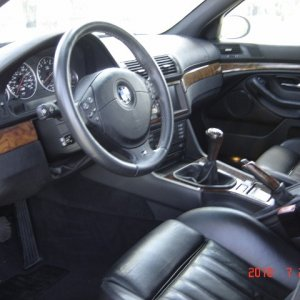 BMW steering wheel - dash and seats in great condition